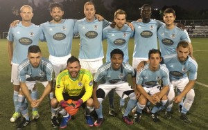 West Chester United pose for a team photo before their 2018 US Open Cup qualifying match against Junior Lone Star FC. Photo: West Chester United