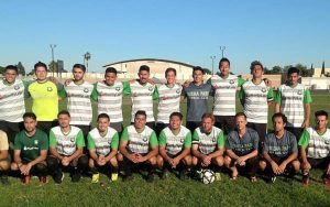 Buena Park FC poses for a team photo ahead of their 2018 US Open Cup qualifying match against the Santa Clarita Storm. Photo: Buena Park FC