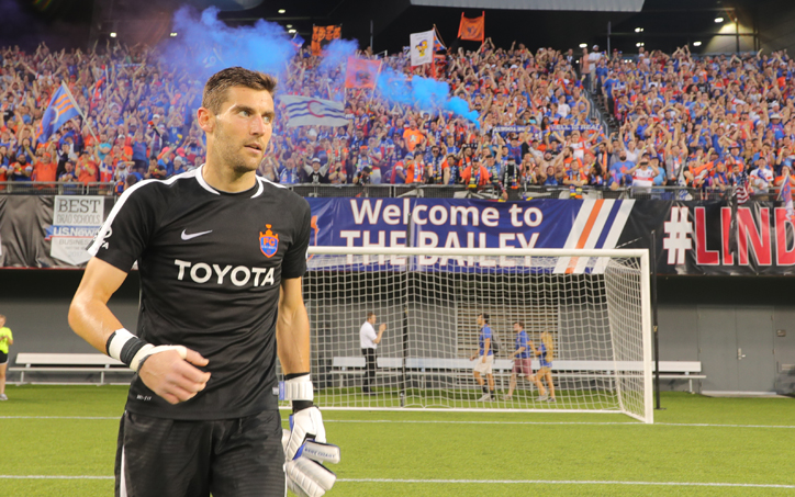 Mitch Hildebrandt of FC Cincinnati became the first player in the Modern Era of the US Open Cup to earn four shutouts in one tournament. Photo: FC Cincinnati