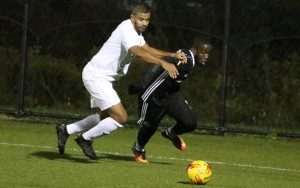 Players from Phoenix SC and West Chester United battle for the ball in a 2018 US Open Cup qualifying match. Photo: Matt Ralph