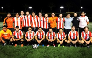 Santa Ana Winds pose for a team photo ahead of their 2018 US Open Cup qualifying game vs. Outbreak FC. Photo: Santa Ana Winds