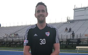 Scot Gordon scored a hat trick in the first half for Red Force FC in 2018 US Open Cup qualifying against Miami Nacional. Photo: Red Force FC