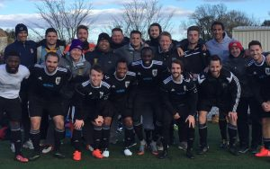 Christos FC pose for a team photo after their 2018 US Open Cup qualifying match against Phoenix SC. Photo: Christos FC