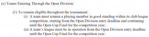 A portion of Section 202 of the 2015 Lamar Hunt US Open Cup handbook.