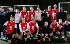 Kendall Wanderers of the Bay State Soccer League pose for a team photo after defeating Mass United FC 2-1 to clinch the club's first-ever trip to the US Open Cup. Photo: Kendall Wanderers