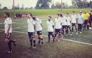 FC Denver lines up before a recent game. Photo: FC Denver