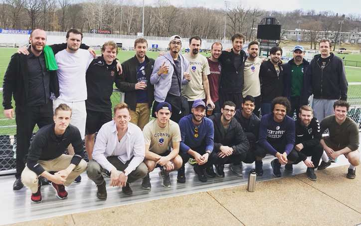 FC Denver poses for a team photo during a trip where they traveled to play two friendlies against USL side Saint Louis FC. Photo: FC Denver
