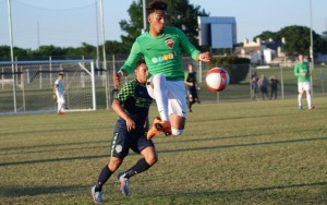 Lucio Martinez of NTX Rayados attempts to control the ball against the OKC Energy FC in the Second Round of the 2018 US Open Cup. Photo: NTX Rayados