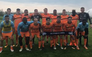 The Ocean City Nor'easters pose for a team photo prior to their 2018 US Open Cup match against AFC Ann Arbor. Photo: Ocean City Nor'easters