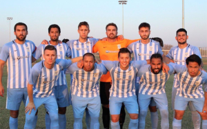 Sporting AZ FC poses for a team photo before a recent UPSL game. Photo: Sporting AZ FC