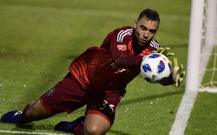 Earl Edwards Jr. of Orlando City SC makes a save during the club's 2018 US Open Cup match against DC United. Photo: USA Today Sports Images