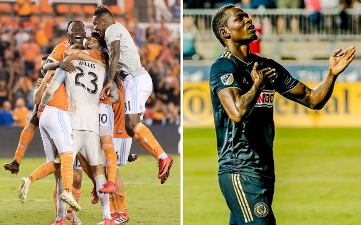 Houston Dynamo Cory Burke Philadelphia Union 2018 US Open Cup Semifinals