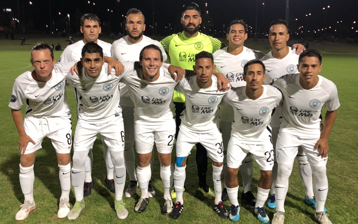 California United II pose for a team photo prior to their 2019 US Open Cup qualifying match against Chula Vista FC. Photo: California United FC