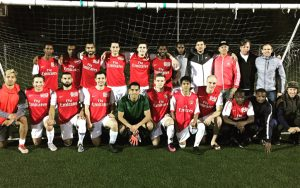IPS Marathon Traverna pose for a team photo prior to their 2019 US Open Cup qualifying match against Nevada Coyotes. Photo: IPS