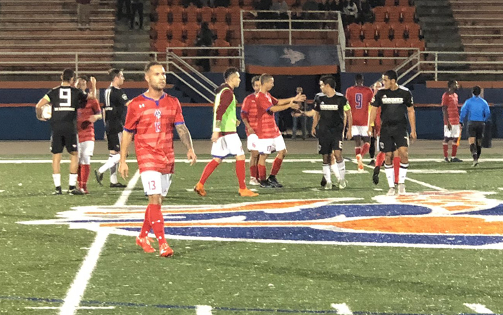 The scene after America SC's 2-1 win over Soda City FC Sorinex in the 2019 US Open Cup qualifying tournament. Photo: Joshua Taylor
