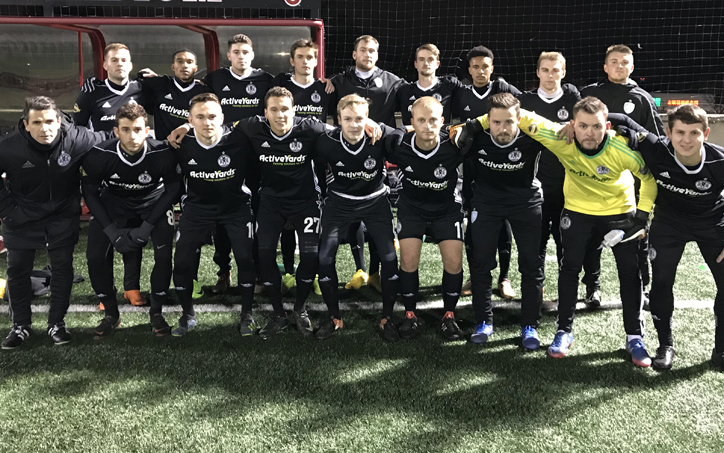 West Chester United pose for a team photo before their 2019 US Open Cup qualifying match against New York Pancyprian Freedoms. Photo: West Chester United