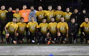 Academic SC poses for a team photo after their 1-0 win over the Oakland Stompers in the Third Round of the 2019 US Open Cup qualifying tournament. Photo: Brittney Virgo