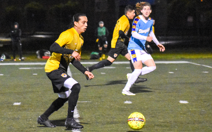 Ramiro Ceja of Academic SC scored the lone goal in the club's 1-0 win over Oakland Stompers in the Third Round of the 2019 US Open Cup qualifying tournament. Photo: Brittney Virgo