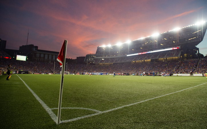 The New York Red Bulls take on FC Cincinnati in the US Open Cup Semifinals at Nippert Stadium in Cincinnati, OH on Tuesday August 15, 2017. Photo: Ryan Meyer | New York Red Bulls