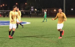 NTX Rayados players celebrate during their Fourth Round match against FC Maritsa in the 2019 US Open Cup Open Division Local qualifying tournament. Photo: NTX Rayados