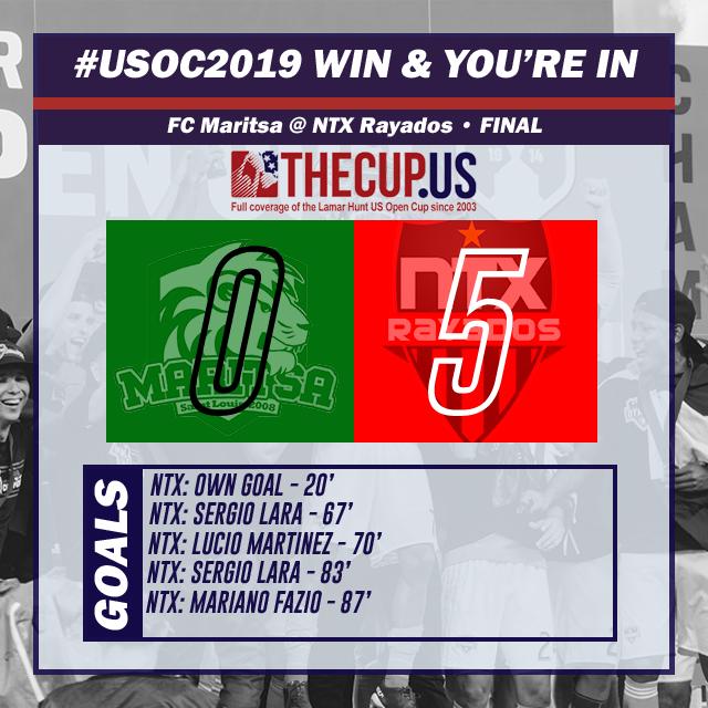 2019 us open cup qualifying NTX Rayados vs FC Maritsa