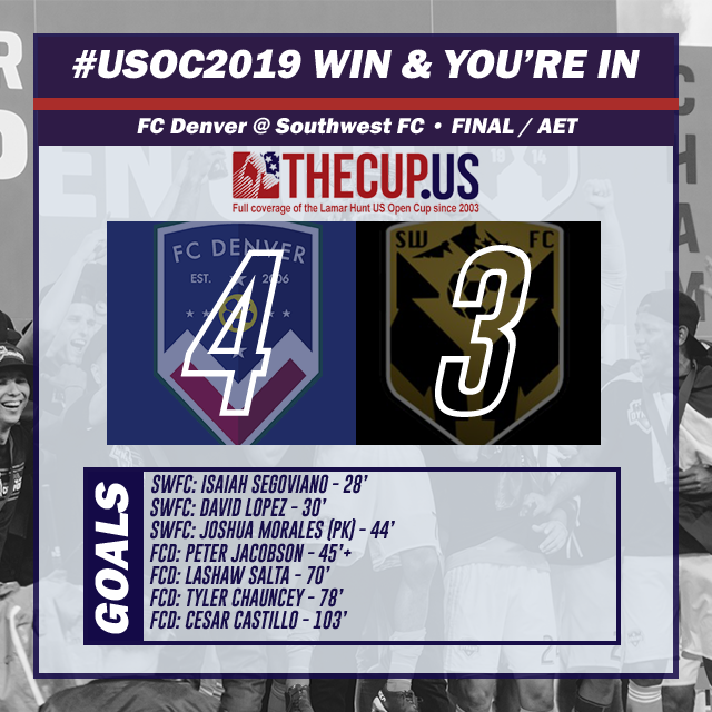 Southwest FC vs FC Denver - 2019 US Open Cup qualifying