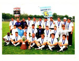 Bavarian SC celebrates the club's 2003 Amateur Cup title. Photo: Bavarian SC