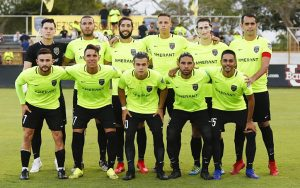 The Florida Soccer Soldiers pose for a team photo before their match against Miami FC in the First Round of the 2019 US Open Cup. Photo: Orovio Photography