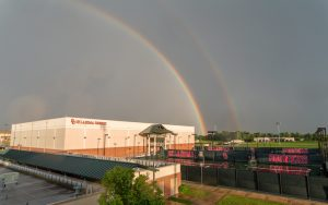 Rainbows appeared despite the severe weather that delayed kickoff of the OKC Energy FC vs. Tampa Bay Rowdies Fourth Round 2019 US Open Cup match. Photo: Steven Christy   IG: @stevenchristyphoto