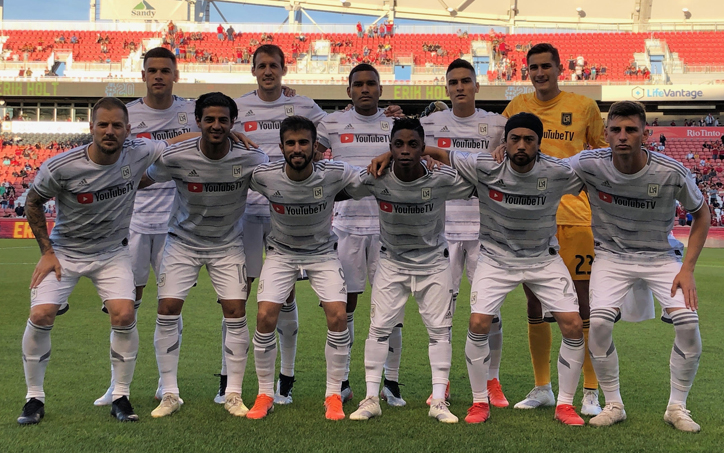 Los Angeles FC lines up for a team photo before the club's Fourth Round match against Real Salt Lake in the 2019 US Open Cup. Photo: LAFC