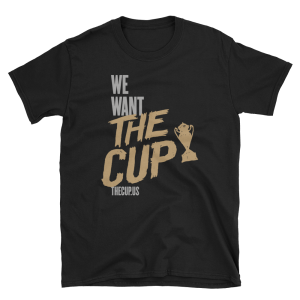 "Support TheCup.us and its coverage of the US Open Cup by purchasing a ""We Want The Cup"" shirt in your team's colors. Visit THECUP.US SHOP"