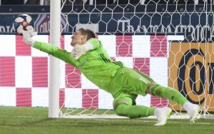Cody Mizell of New Mexico United makes a save in the penalty kick shootout against the Colorado Rapids in the Fourth Round of the 2019 US Open Cup. Photo: Corbin Elliott | Prost Soccer | Twitter: corbinse69