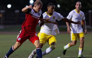 New Mexico United rallied from a first-half deficit to advance to the Quarterfinals of the 2019 Lamar Hunt U.S. Open Cup with a 2-1 win against FC Dallas on Wednesday night. | Photo courtesy Matt Begala / FC Dallas