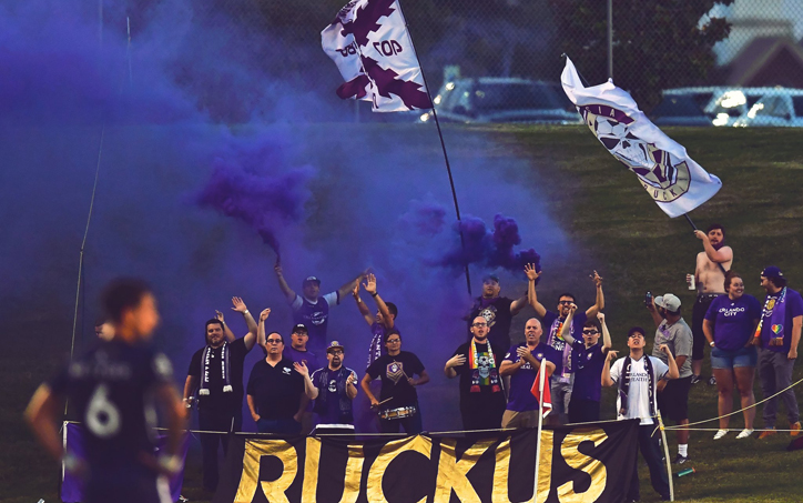 Orlando City SC supporters cheer on their team in their Fourth Round game against Memphis 901 FC in the 2019 US Open Cup. Photo: Orlando City SC