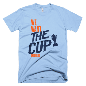 """Support TheCup.us and its coverage of the US Open Cup by purchasing a """"We Want The Cup"""" shirt in your team's colors. Visit <a href=""""https://shop.thecup.us/"""">THECUP.US SHOP</a>"""