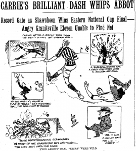 The 1925 National Challenge Cup Eastern Final. Newspaper archive: Boston Globe