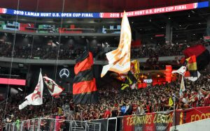 Atlanta United FC broke the all-time US Open Cup Final attendance record with a crowd of 35,709 at Mercedes-Benz Stadium for the 2019 Final. Photo: Allison Andrews