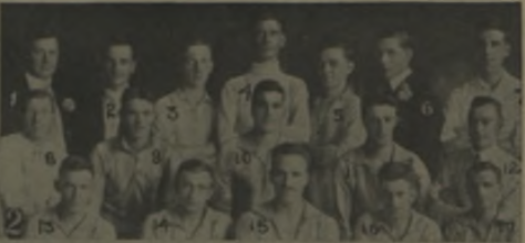 A team photo of Roses FC (Detroit) from 1919