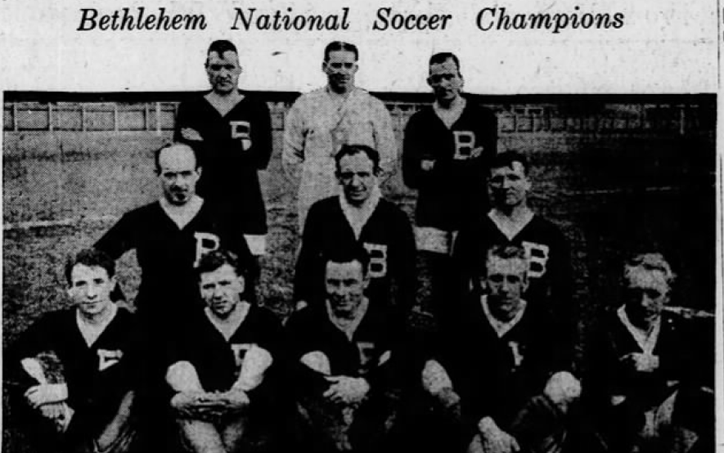 The Bethlehem Steel won the 1918/1919 National Challenge Cup title, 2-0 over Paterson FC in Fall River, Mass. It was the club's fourth National Challenge Cup title in the last six years.