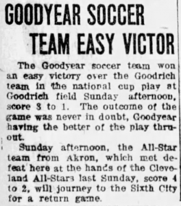 Article from Akron Evening Times - Nov. 29, 1918
