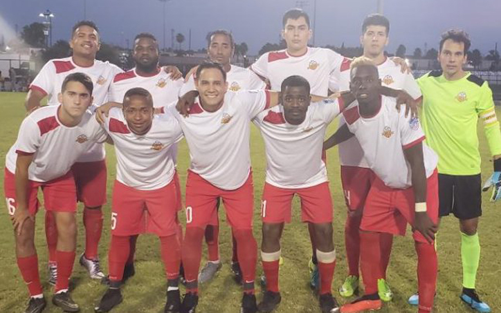 Players from Athletic Katy FC pose for a team photo before the club's 2020 US Open Cup qualifying match against Houston FC. Photo: Athletic Katy FC