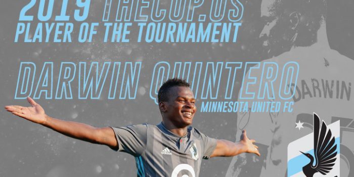 Darwin Quintero of Minnesota United FC voted TheCup.us Player of the Tournament for 2019 US Open Cup