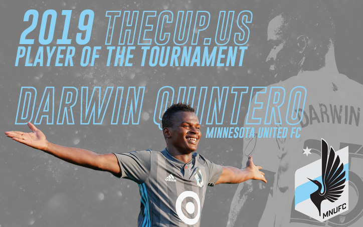 Darwin Quintero - Minnesota United - US Open Cup Player of the Tournament Graphic by Daniel Crooke | Twitter @crooke86