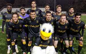 Louisiana Krewe pose for a team photo before their 2020 US Open Cup qualifier against Livonia City FC. Photo: David Hebestreit | Detroit Soccer Central